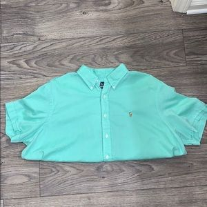 Ralph Lauren Seafoam Green Button Down Shirt